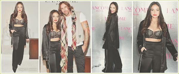 . ''29.11.18'-  ▬ Inanna S. s'est rendue à l'événement  Lancôme x Vogue Holiday Event qui se déroulait à West Hollywood Peu de photos lors de cette soirée, c'est dommage. Du peu qu'on voit j'aime énormément son ensemble noir, très chic !