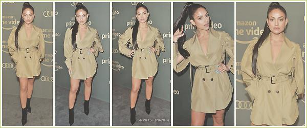 . ''06.01.19'-  ▬ Inanna S. était au Amazon Prime Video's Golden Glove Awards after party qui avait lieu à Beverly Hills Énorme coup de coeur pour ce look. La couleur change de d'habitude et lui va à ravir ! Aucun faux pas. Un sublime top.
