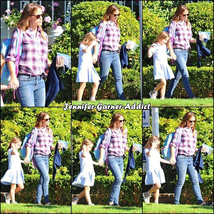 Jen est allée chercher Séraphina à l'école - le 26 Octobre -