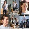 Jen sortant de la gym avec une amie - le 14 Novembre -