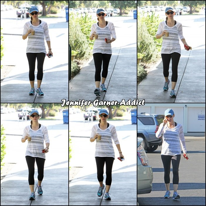 Jen sortant de la gym - le 25 Novembre -