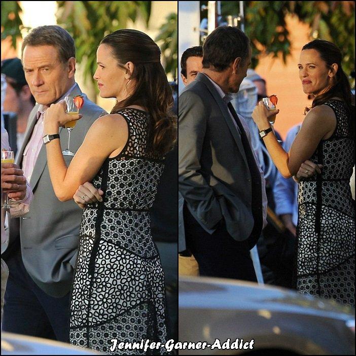 Jen sur le tournage de Wakefield - le 30 Novembre -