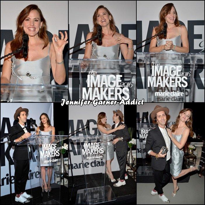 Jen à la présentation de la soirée The Image Maker organisée par Marie Claire - le 12 Janvier -