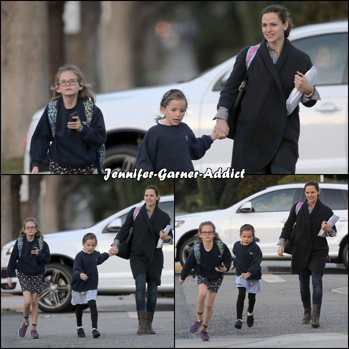 Jen a été chercher les filles à l'école - le 14 Janvier -