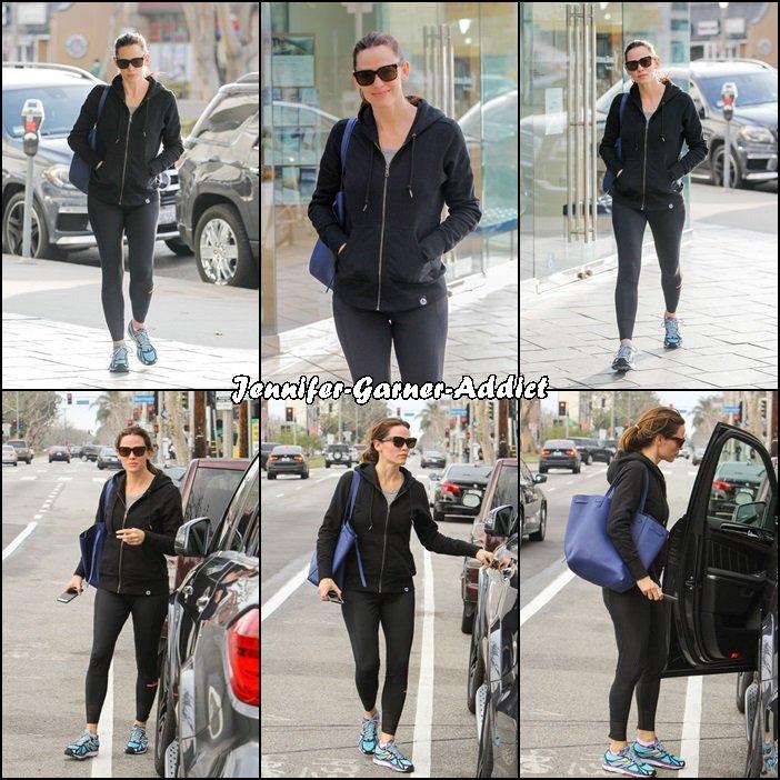 Jen sortant de la gym - le 19 Janvier -