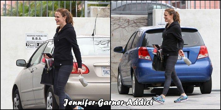 Jen après son cours de gym - le 30 Janvier -
