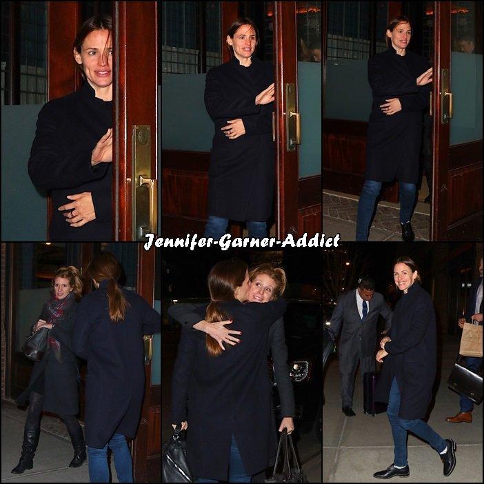 Jen a profité de son séjour new yorker pour voir une amie - le 2 Février -