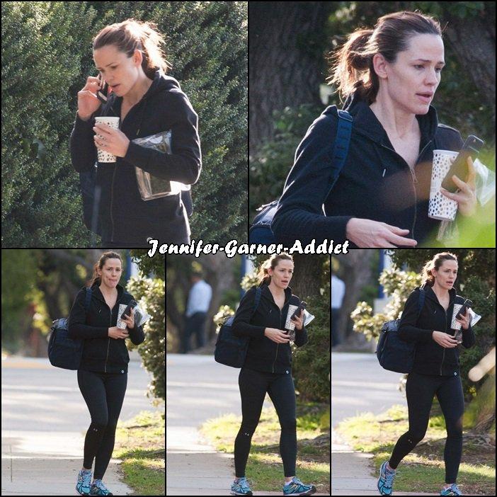 Jen sortant de la gym - le 23 Février -