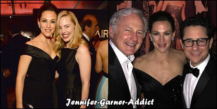 Jen à l'after party Vanity Fair des Oscars - le 28 Février -