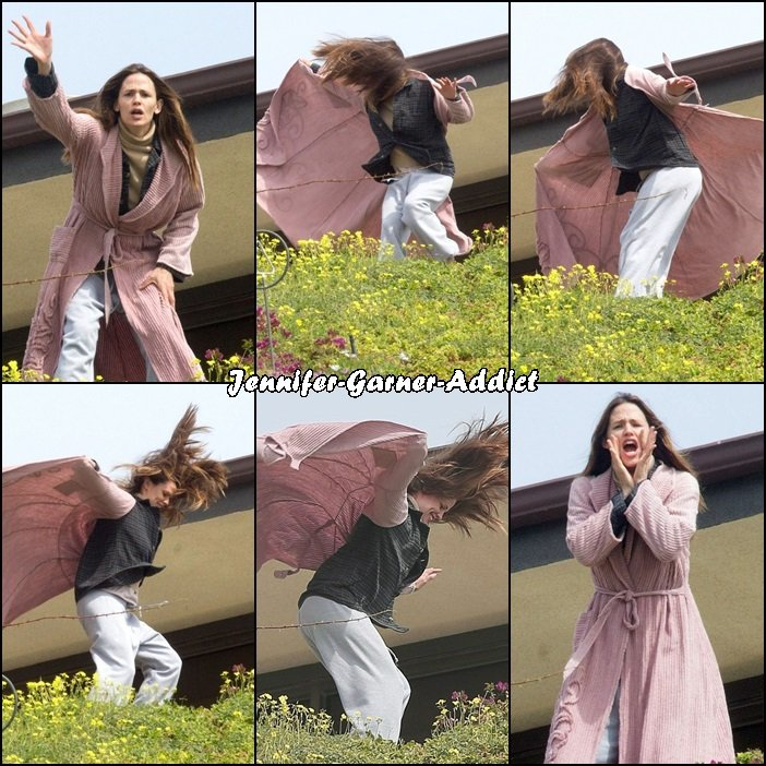 Jen sur le tournage de The Tribes - le 3 Mars -
