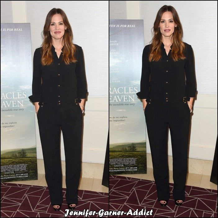 Jen au photo call de Miracles from Heaven au The London Hotel - le 4 Mars - à West Hollywood en Californie