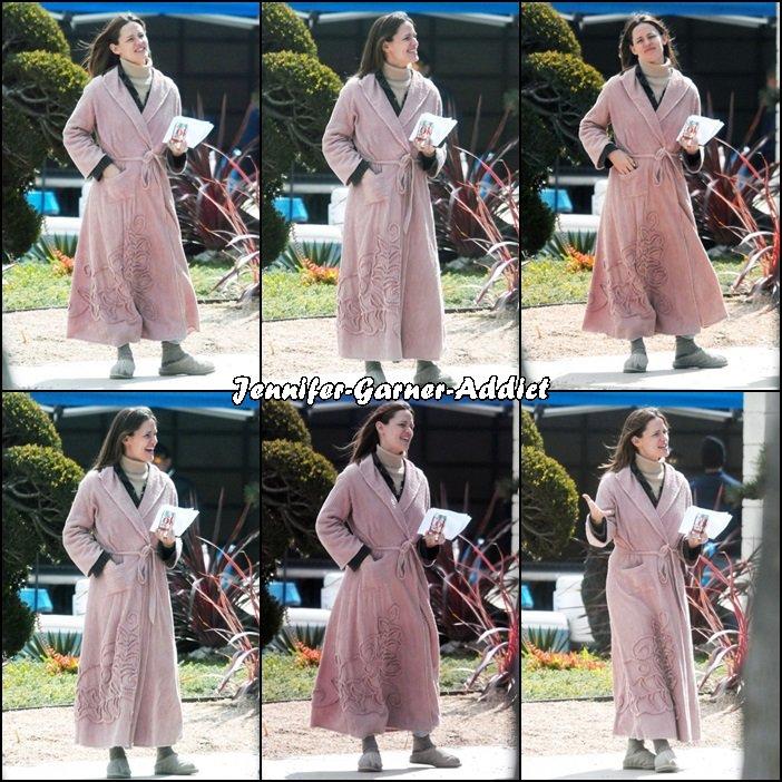 Jen sur le tournage de The tribes - le 7 Mars -