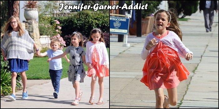 Jen et les enfants sont allés à l'église - le 10 Avril -