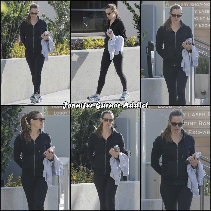 Jen au retour de la gym - le 12 Avril -