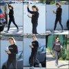 Jen sortant de la gym et allant chercher de quoi boire un coup - le 16 Avril -
