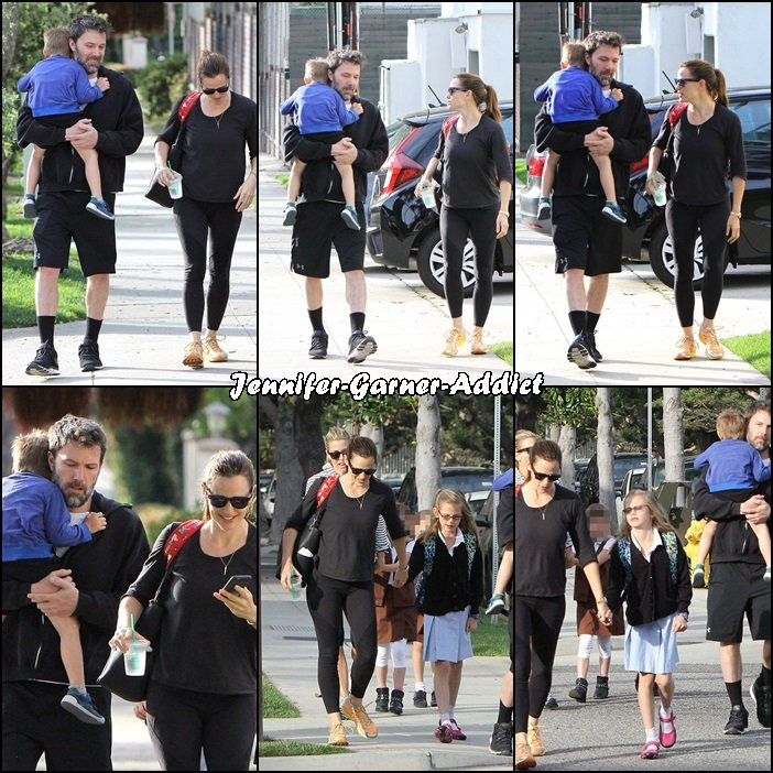 Jen, Ben et Samuel sont allés chercher Violet à l'école - le 19 Avril -