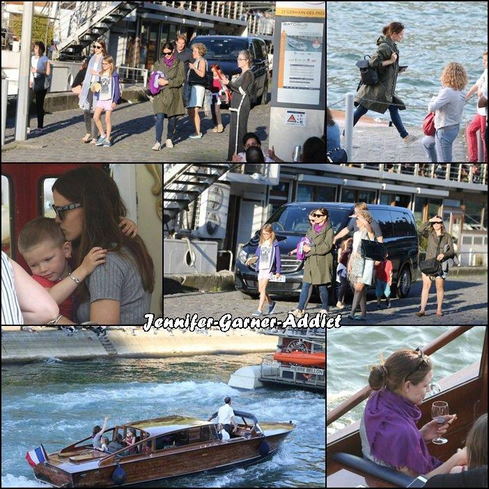 Visite de Paris pour Jen, Violet, Séraphina, et Samuel (toujours avec la nounou et des amis) avec notamment petite virée sur la Seine - le 7 Mai -
