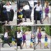 Jen et les enfants ont fait une petite sortie (accompagnés par un garde du corps) - le 12 Juin -
