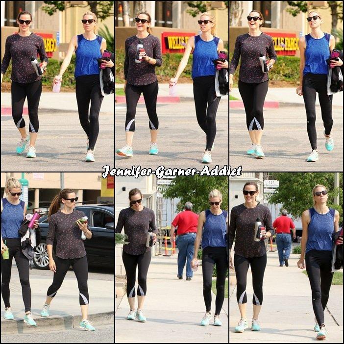 Jen à la gym avec son agent - le 17 Juin -
