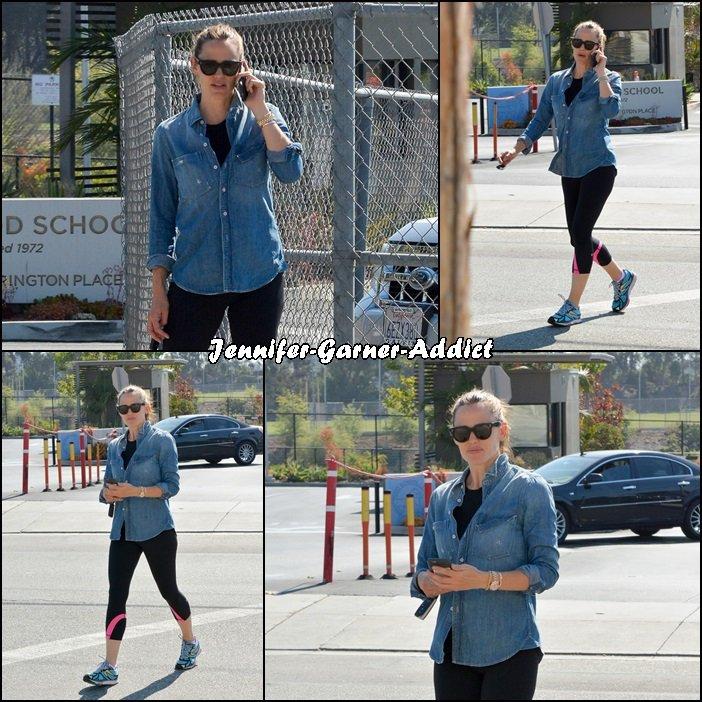 Jen à la gym - le 20 Juin -