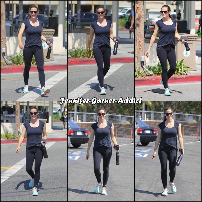 Jen sortant de la gym - le 22 Juin -