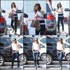 Jen et Séraphina sont allées faire quelques courses avec une amie de Séraphina au Brentwood Country Mart in Brentwood - le 12 Juillet -