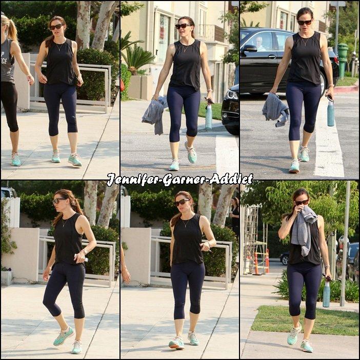 Jen à la gym et allant manger une glace avec son agent - le 24 Juillet -