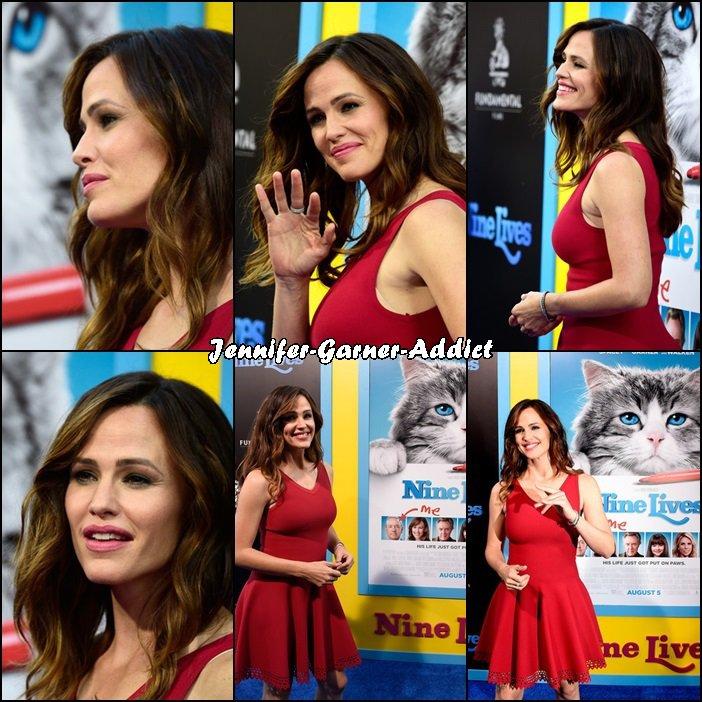 Jen à la première de Nine Lives à Hollywood en Californie - le 1er Août -
