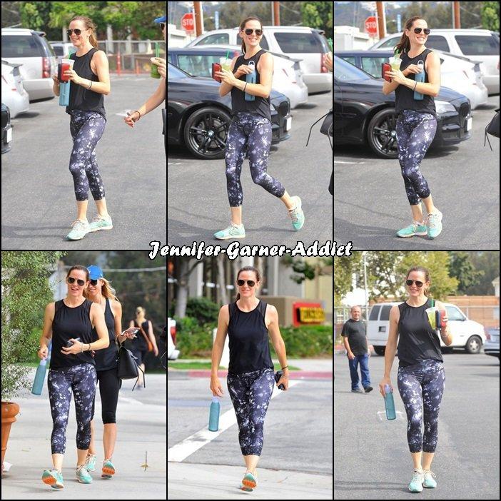 Jen a été faire de la gym avec son agent - le 2 Aout -