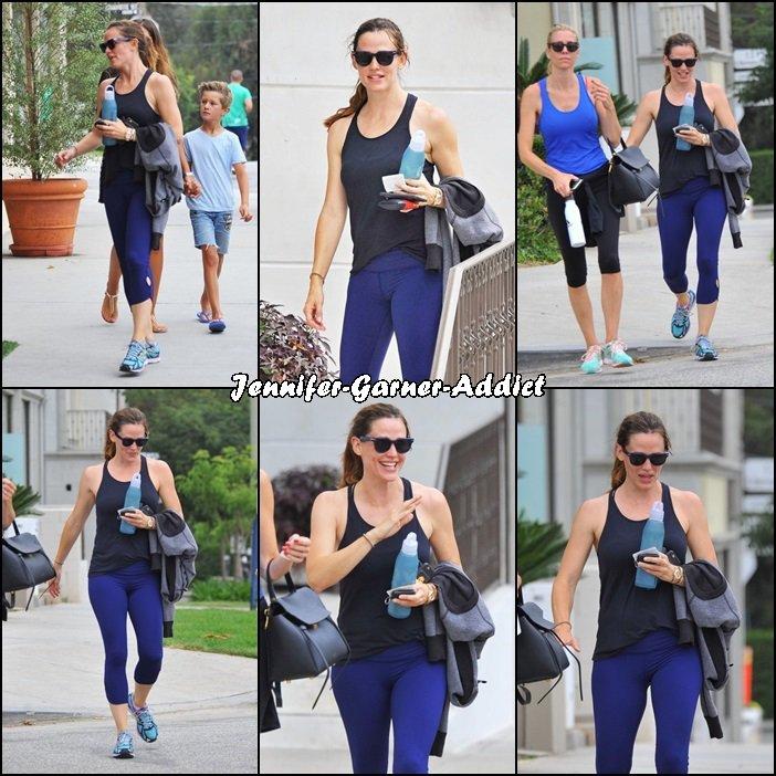 Jen et son agent à la gym - le 9 Août -