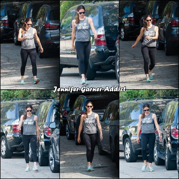Jen allant à la gym - le 10 Aout -