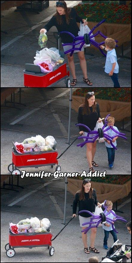 Jen et Samuel sont allés au marché des fermiers - le 7 Aout -