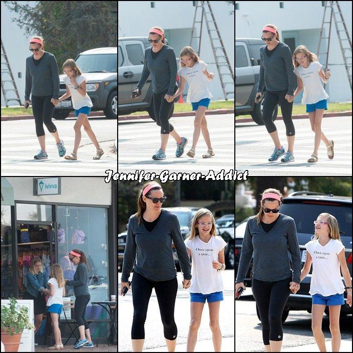 Jen a été à la gym puis chercher un yaourt glacé puis a été chercher Violet - le 25 Aout -