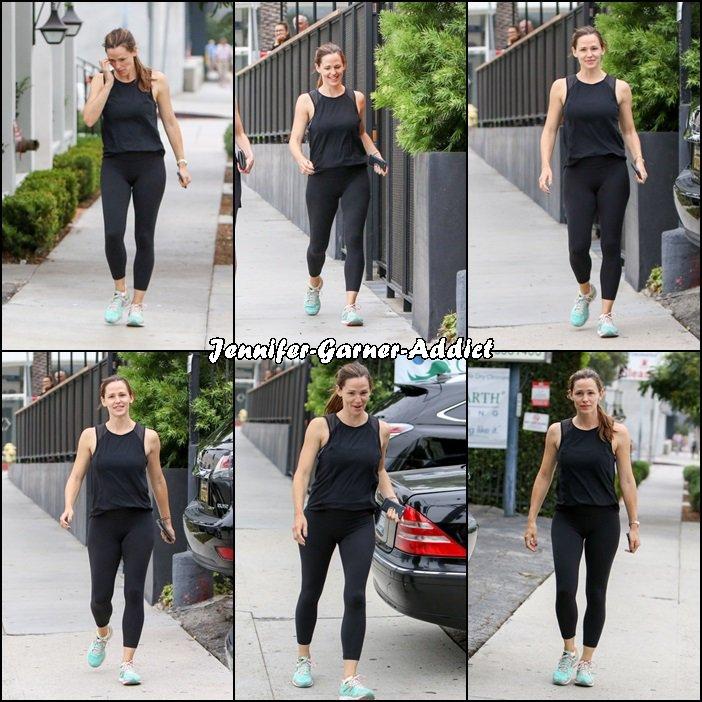 Jen à la gym - le 27 Aout -