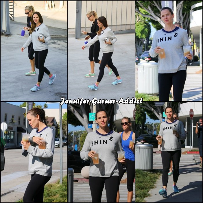 Jen a été à la gym puis chercher un café avec son agent - le 17 Septembre -