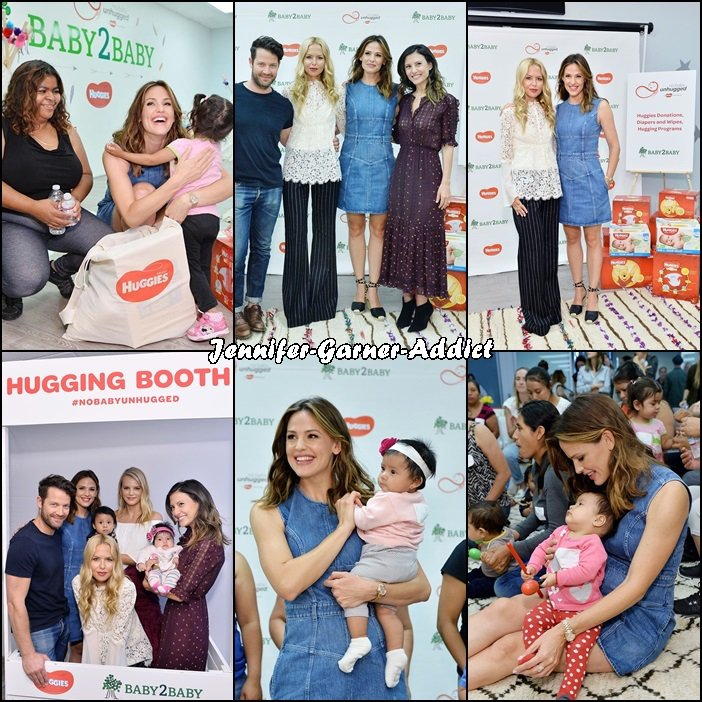 Jen a été une manifestation Baby2baby soutenue par Huggies - le 26 Septembre -