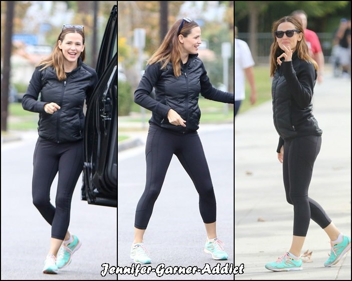 Jen à la gym - le 16 Octobre -