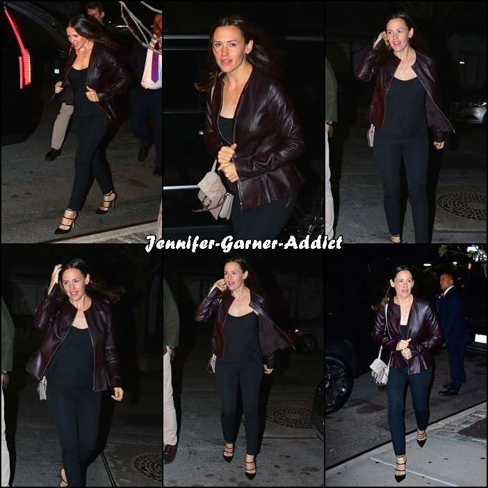 Jen à une soirée new yorkaise - le 24 Octobre -
