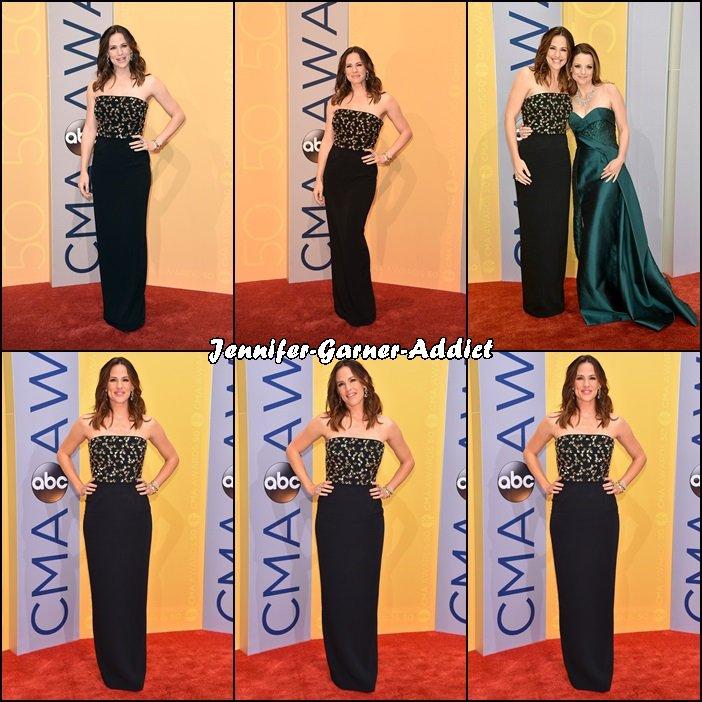 Jen aux 50th annual CMA Awards qui a eu lieu au Bridgestone Arena à Nashville dans le Tennessee - le 2 Novembre -