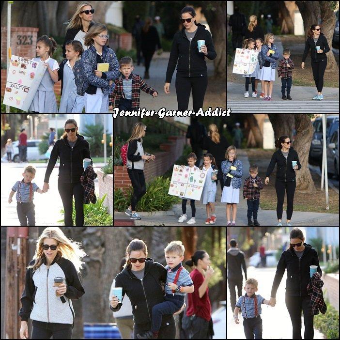 Jen a été chercher les filles à l'école - le 17 Novembre -