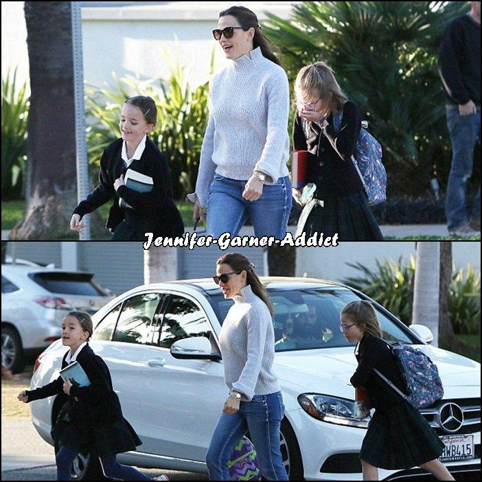Jen a été chercher les filles à l'école - le 2 Décembre -