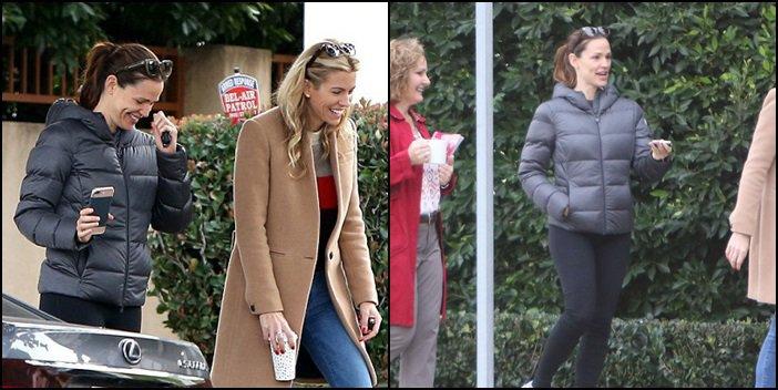 Jen et Sam après avoir amené les filles à l'école - le 7 Décembre -