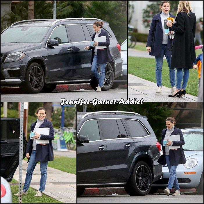 Jen a été chercher les filles à l'école - le 10 Janvier -