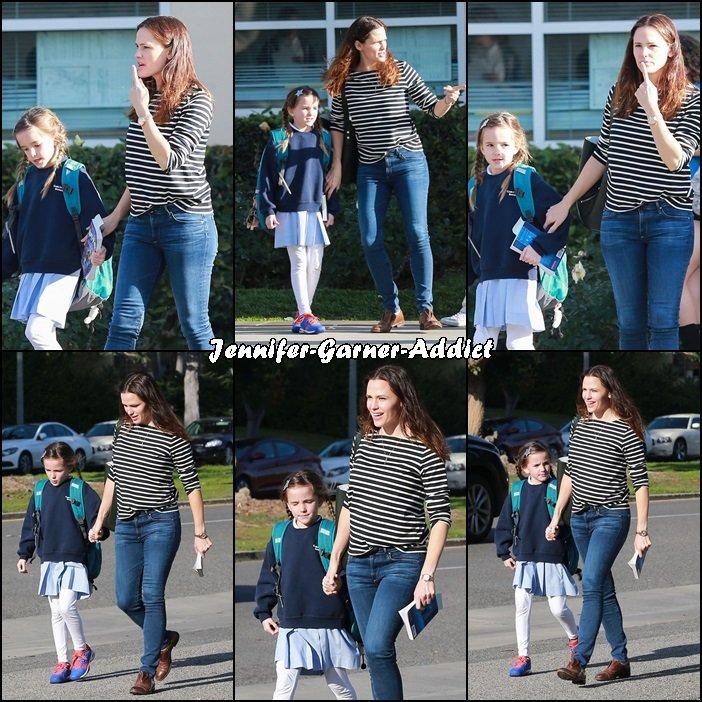Jen a été chercher Séraphina à l'école - le 17 Janvier -