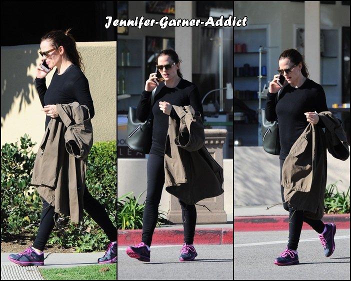 Jen sortant de la gym - le 17 Janvier -