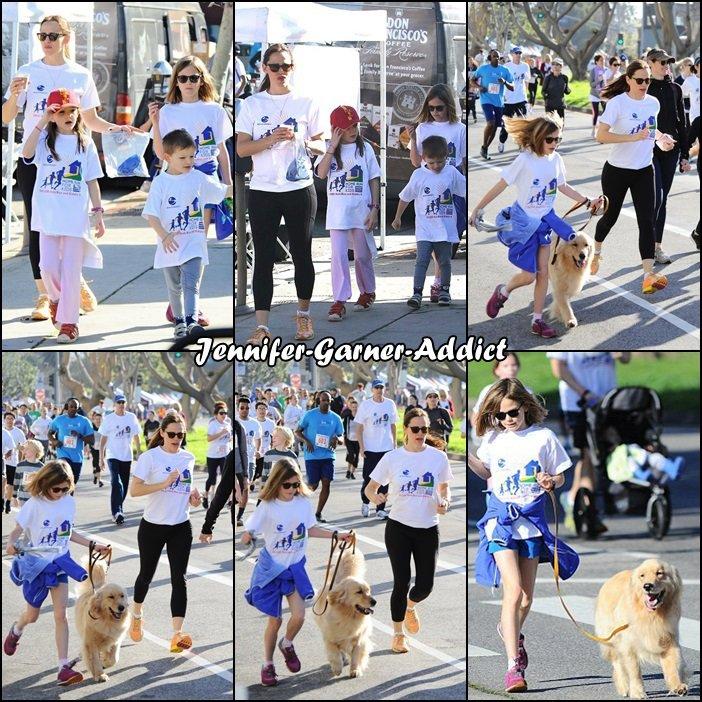 Jen et les enfants ont participé à un marathon - le 12 Février -