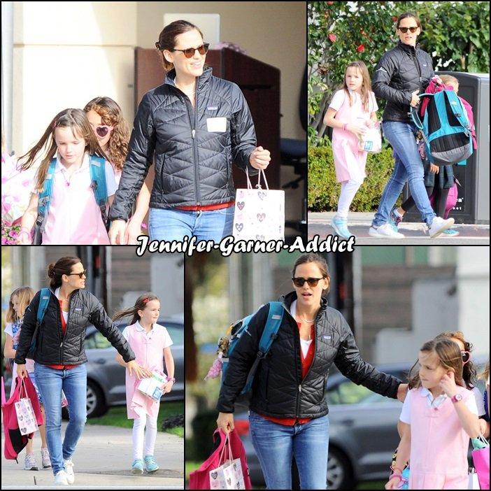 Jen a été chercher Séraphina à l'école - le 14 Février -