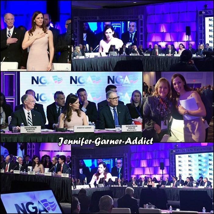 Jen était à Washington au National Governors Association Winter Meeting pour parler de l'éducation des enfants - le 25 Février -