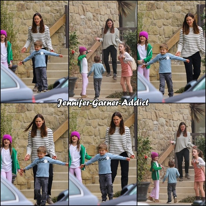 Jen, Séraphina et Samuel après être allés à l'église - le 5 Mars -