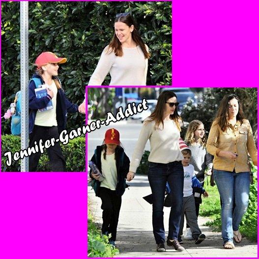 Jen et Samuel sont allés chercher les filles à l'école - le 3 Mars -